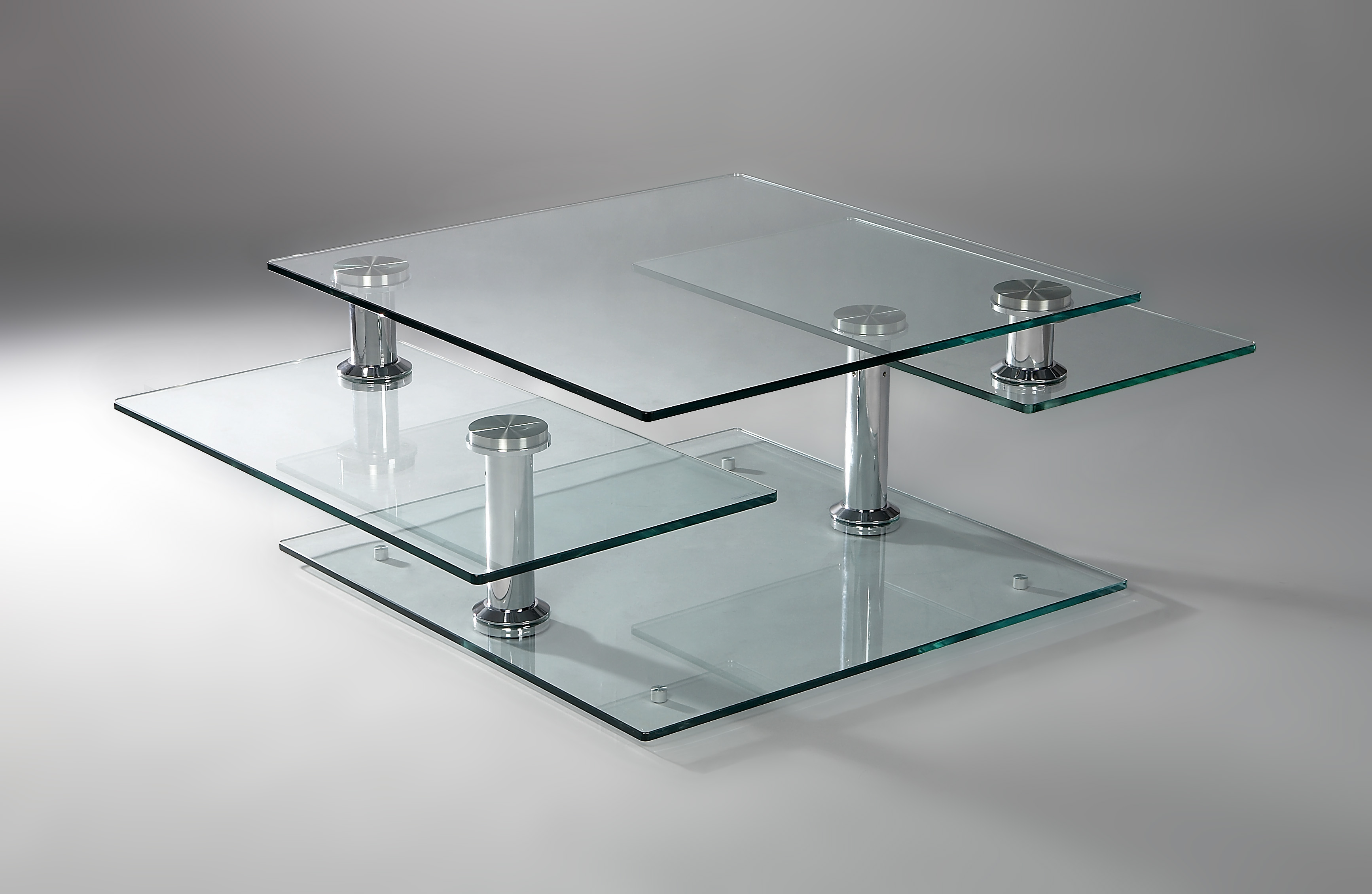table basse en verre modulable maison design. Black Bedroom Furniture Sets. Home Design Ideas